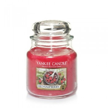 CANDELA GIARA MEDIA RED RASPBERRY YANKEE CANDLE