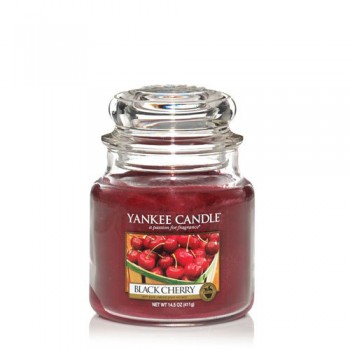 CANDELA GIARA MEDIA BLACK CHERRY YANKEE CANDLE