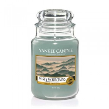 CANDELA GIARA GRANDE MISTY MOUNTAINS YANKEE CANDLE