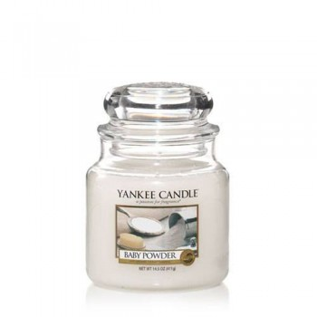 CANDELA GIARA MEDIA BABY POWDER YANKEE CANDLE