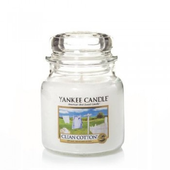 CANDELA GIARA MEDIA CLEAN COTTON YANKEE CANDLE