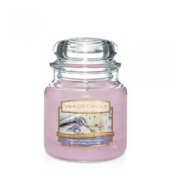 CANDELA GIARA MEDIA HONEY LAVEDER GELATO YANKEE CANDLE