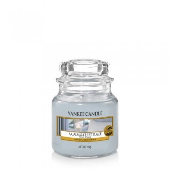 CANDELA GIARA PICCOLA A CALM & QUIET PLACE YANKEE CANDLE