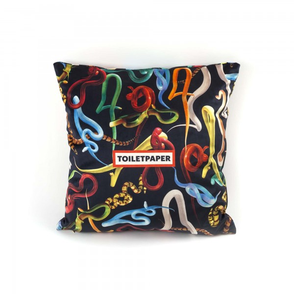 CUSCINO IN POLIESTERE TOILETPAPER SNAKES