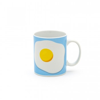 TAZZA MUG IN PORCELLANA STUDIO JOB BLOW EGG SELETTI
