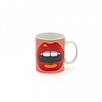TAZZA MUG IN PORCELLANA STUDIO JOB BLOW MOUTH SELETTI
