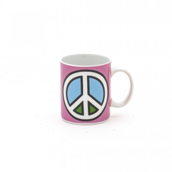 TAZZA MUG IN PORCELLANA STUDIO JOB BLOW PEACE SELETTI