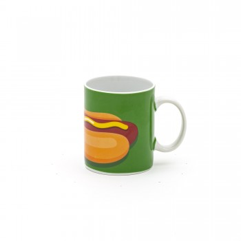 TAZZA MUG IN PORCELLANA STUDIO JOB BLOW HOT DOG SELETTI