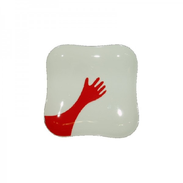 PIATTINO TAZZA CAFFÈ 14 CM HAPPY HANDS CHERRY