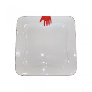 PIATTO DESSERT QUADRATO HAPPY HANDS CHERRY VILLEROY & BOCH
