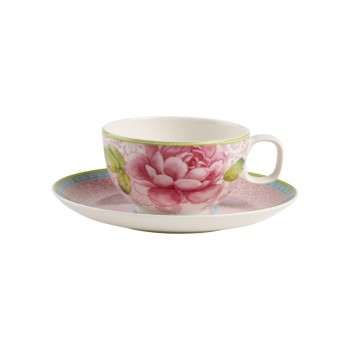 TAZZA TE CON PIATTINO ROSE COTTAGE VILLEROY & BOCH
