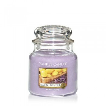 CANDELA GIARA MEDIA LEMON LAVENDER YANKEE CANDLE