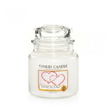 CANDELA GIARA MEDIA SNOW IN LOVE YANKEE CANDLE