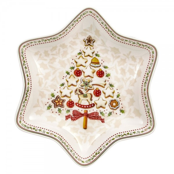 COPPA A STELLA ALBERO WINTER BAKERY DECORATION