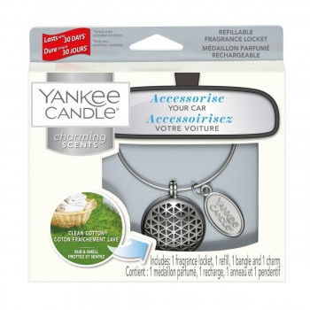 CHARMING SCENTS GEOMETRIC CLEAN COTTON YANKEE CANDLE