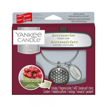 CHARMING SCENTS GEOMETRIC BLACK CHERRY YANKEE CANDLE