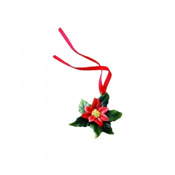 PENDAGLIO POINSETTIA HOLIDAY GREETINGS FRANZ PORCELAIN