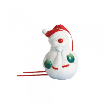PENDAGLIO PUPAZZO DI NEVE HOLIDAY GREETINGS FRANZ PORCELAIN