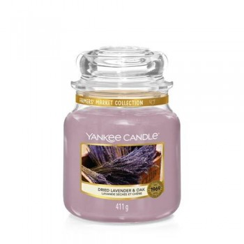 CANDELA GIARA MEDIA DRIED LAVENDER & OAK YANKEE CANDLE