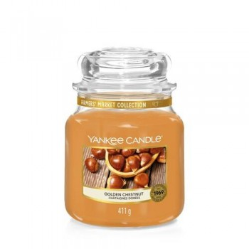 CANDELA GIARA MEDIA GOLDEN CHESTNUT YANKEE CANDLE