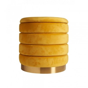 POUF CONTENITORE CHARMS GIALLO PUSHER