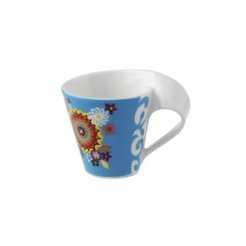 TAZZA CAFFE CON PIATTINO NEW WAVE SAMBA VILLEROY & BOCH