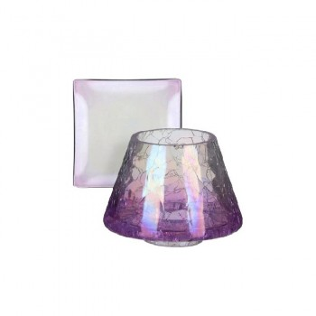 PARALUME CON PIATTO PICCOLO PURPLE CRACKLE YANKEE CANDLE