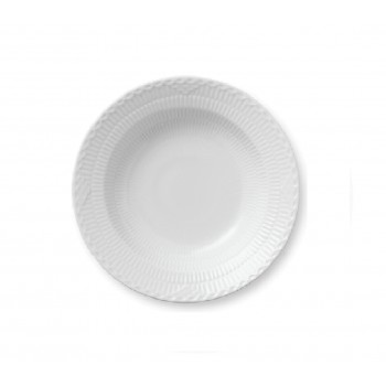 PIATTO FONDO 21 CM WHITE FLUTED HALF LACE ROYAL COPENHAGEN