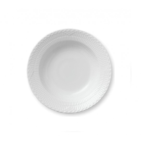 PIATTO FONDO 21 CM WHITE FLUTED HALF LACE