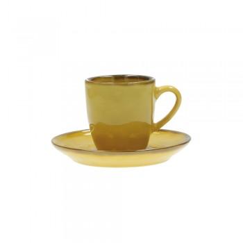 TAZZE CAFFÈ CON PIATTO CONCERTO OCRA ROSE&TULIPANI