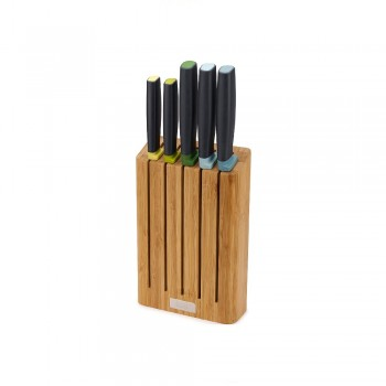 SET 5 COLTELLI CON CEPPO IN BAMBOO ELEVATE JOSEPH