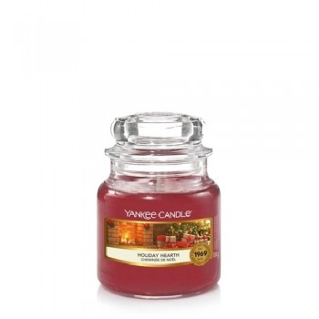 CANDELA GIARA PICCOLA HOLIDAY HEARTH YANKEE CANDLE