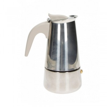 CAFFETTIERA BORBOTTINA AD INDUZIONE 2 TAZZE INOX BRANDANI