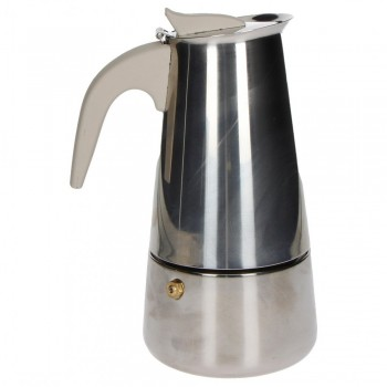 CAFFETTIERA BORBOTTINA 6 TAZZE INDUZIONE INOX BRANDANI
